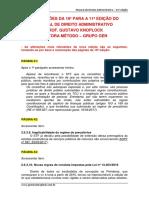 ALTERAÇÕES DA 10ª PARA A 11ª EDIÇÃO DO MANUAL DE DIREITO ADMINISTRATIVO PROF. GUSTAVO KNOPLOCK