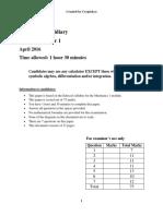 Mechanics 1 Practice Paper 4.pdf