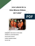 Fuerza Laboral de La Gran Minería Chilena 2017-2026