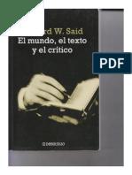 El mundo, el texto y el crítico