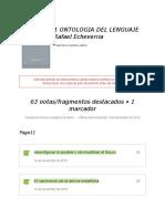 "Notas de "" 1 Ontologia Del Lenguaje Rafael Echeverria """