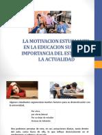 La Motivacion Estudiantil en La Educacion Superior