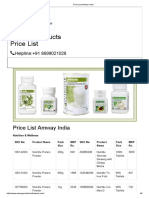 Price list Amway India