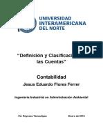 Definición y Clasificación de las Cuentas