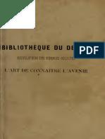 L'ART DE CONNAITRE L'AVENIR