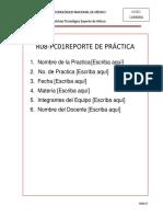 R08-PC01 Formato Reporte de Practicas