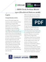 Ibps Clerk Prelims Model Question Paper Predicted Pattern 2018