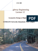 Lecture 12 Geometric Design of Highways