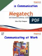 Topic 1 - Communication in Organization