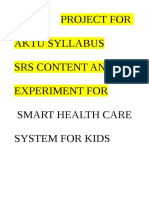 SRS for  kids health management
