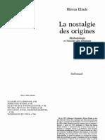 Eliade Mircea La Nostalgie Des Origines 1971