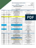 2018-2019 Cronograma de Actividades