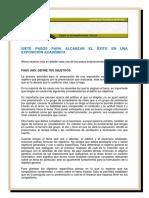 7 Pasos Para Exposicion Academica