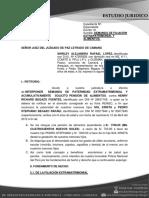 Demanda de FILIACION EXTRAMATRIMONIAL DE MENOR Y ALIMENTOS