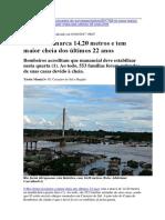 Maior Cheia Histórica Do Rio Juruá - 2017
