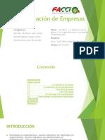 E1. Administración de Empresas GRUPO #1