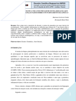 Texto I - O Ensino Da Gramática Nos Anos Iniciais de Escolarização (Paula; Dias, 2016)