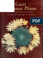 Cacti as House Plants Flowers of the Desert in Your Home - W.E.shewell-Cooper and T.C.rochford 1973