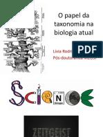 O Papel Da Taxonomia Na Biologia Atual