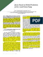 46 Prognostic Analysis Based on Hybrid Prediction Method for Axial Piston Pump (1)