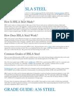 What is Hsla Steel