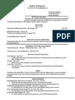 resume education