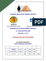 Proposed Welding Procedure No.gupcO PMS SAQ QC 0001