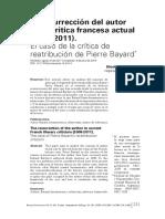 La Resurrección Del Autor en La Crítica Francesa Contemporánea