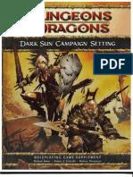 D&D 4th Edition - Dark Sun Campaign Setting