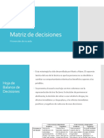 Matriz de Decisiones