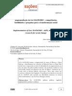 10 Tema - A Implementação Da Lei 10.639-03 P