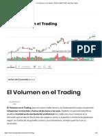El Volumen en el Trading