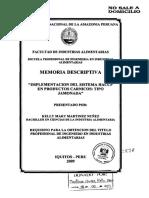 Haccp, Implementacion en Elaboracion de Jamonadas