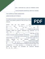 Contrato de División y Partición de Lotes de Terreno Entre Adjudicatarios de Una Extensión Superficial Mayor de Tierras