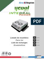 Bycool Integral Power, Listado de Recambios