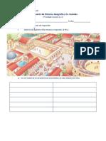 Evaluación de Historia 3° Romanos y Griegos