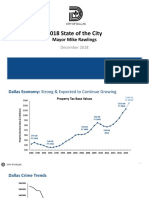 Dallas Mayor Mike Rawlings State of City PPT Presentation