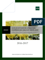 GUÍA 2 Literatura Española Siglo XX Hasta 1939