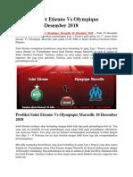 Prediksi Saint Etienne vs Olympique Marseille 10 Desember 2018