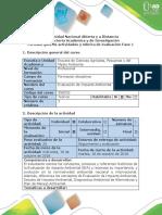 Guía de Actividades y rúbrica de evaluación - Fase 1 - Descripción y antecedentes de la evaluación de impacto ambiental