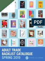 Spring 2019 Chronicle Books UK Adult Backlist
