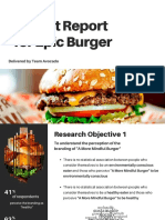 insight report for epic burger