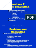 Lecture 7 Fault Simulation Fault