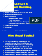 Lecture 5 Fault Modeling Fault