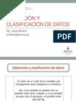 Clase 2.1 Obtención y Clasificación de Datos