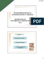Fundamentos de La Investigación y Ciencia 2017