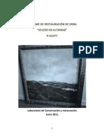 Informe Restauración Velero en Altamar