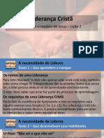 Liderança Cristã - Lição 2