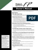 Roland FP-5 Manual
