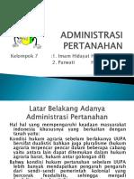 Administrasi Pertanahan (Hpa)